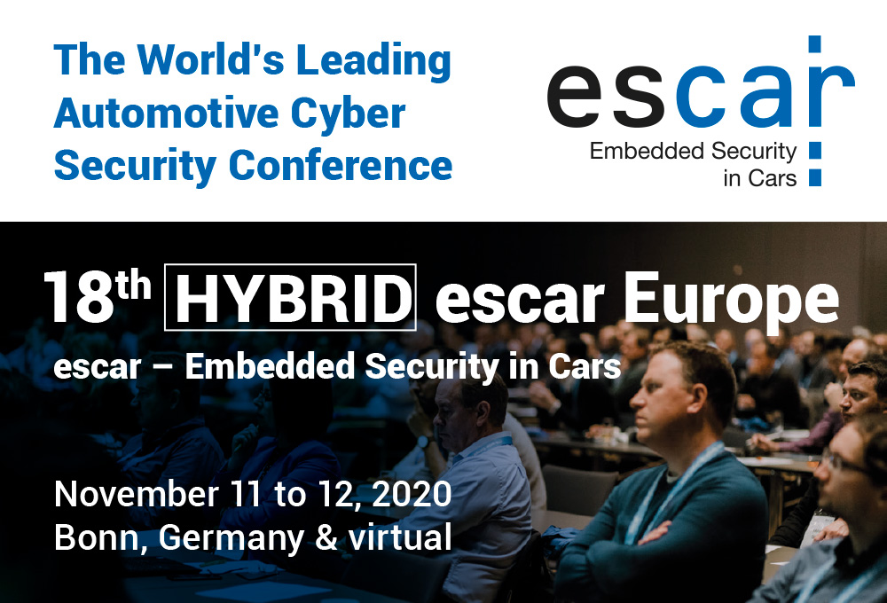 18th escar Europe – The World's Leading Automotive Cyber Security Conference