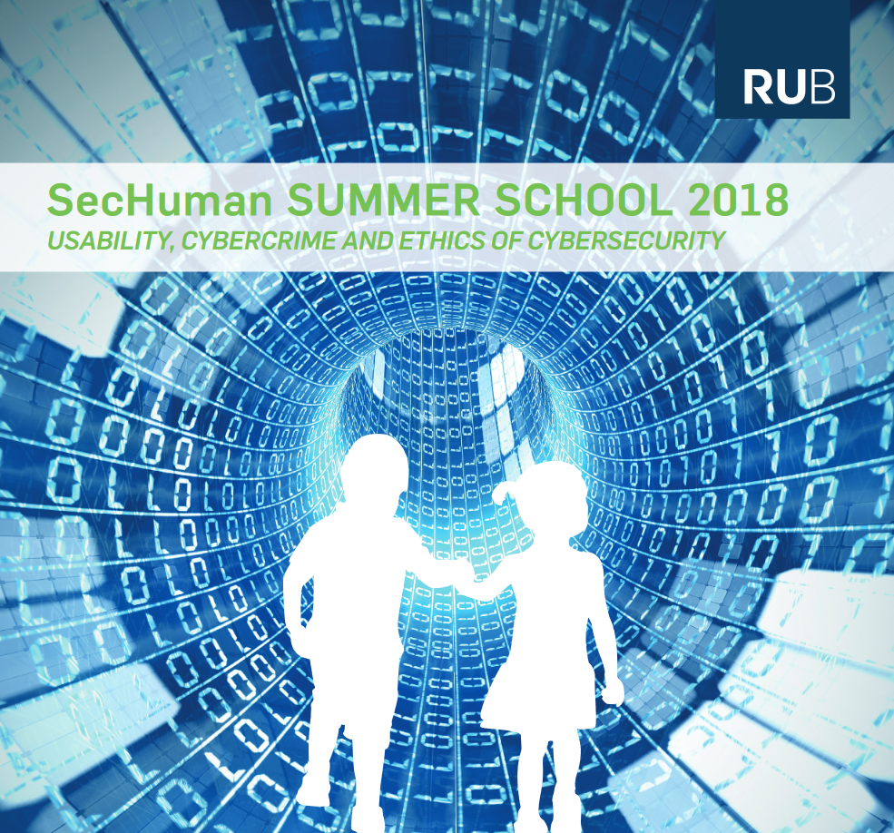 "So war die 2. SecHuman Summer School ""Usability, Cybercrime and Ethics of Cybersecurity"" 03. bis 06. September 2018, Ruhr-Universität Bochum"