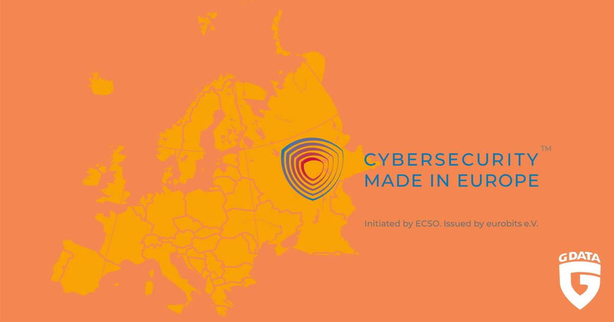 "Partnernews G DATA | G DATA erhält ECSO-Gütesiegel ""Cybersecurity Made in Europe"""