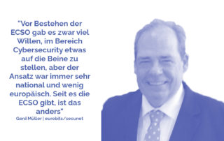 Gerd Müller von eurobits und secunet bei der ECSO